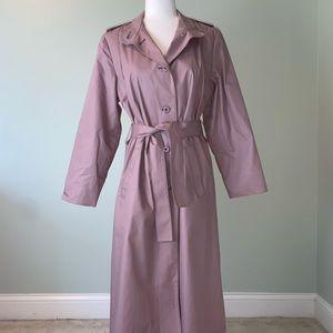 Vintage London Fog Lavender trench coat #3254